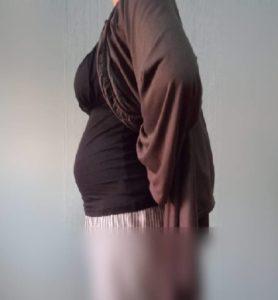 妊娠直後から妊娠18週目までのお腹の変化を写真で比較